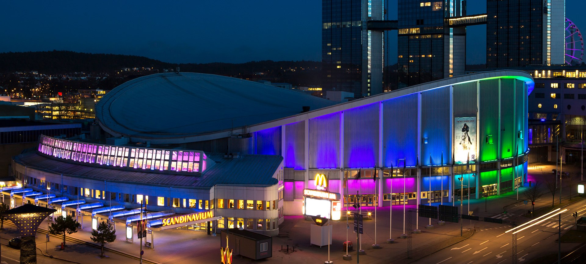 Scandinavium by night